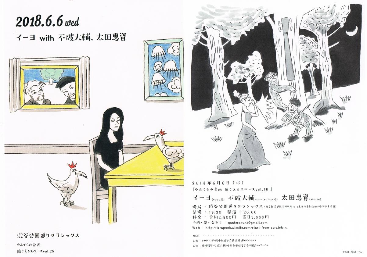 イーヨ with 不破大輔、太田惠資「やんてらの企画 聴こえるスペースvol.25」